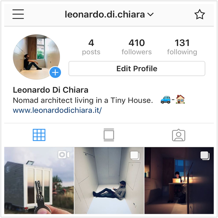 tiny house italia instagram leonardo di chiara